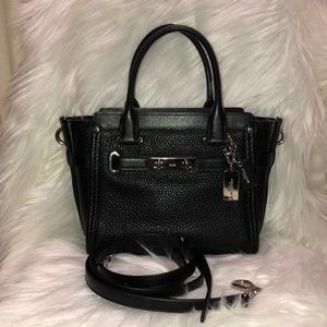 Coach Swagger Handbag Black w/Silver Hardware